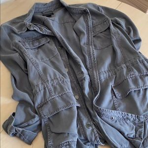 Lucky Brand charcoal gray Army utility jacket